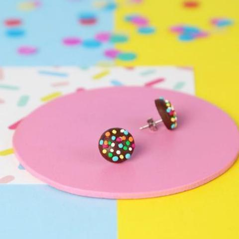 saturday lollipop earrings 'freckle' studs