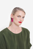 elk earrings 'sunne drop' ruby