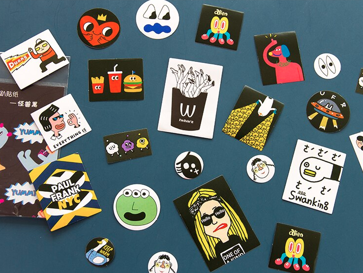sticker pack 'kawaii mix 60' black