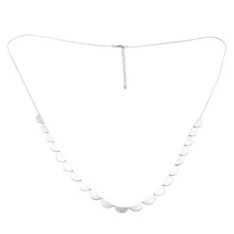 fabienne necklace 'petal' silver