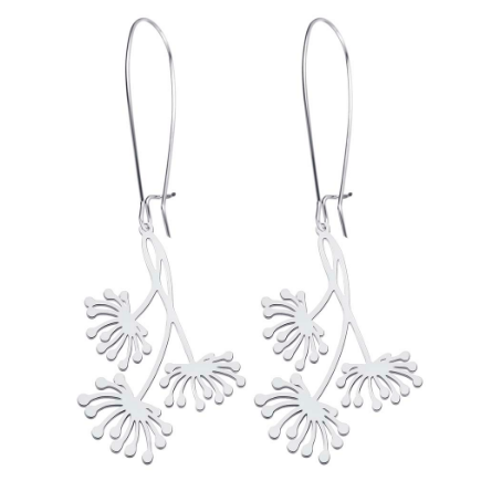 sugar earrings silver 'blossom drops' - the-tangerine-fox