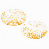 sugar earrings 'gold leaf sprinkles' - the-tangerine-fox