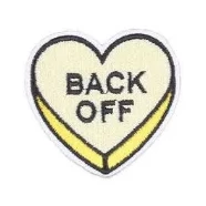 embroidered patch 'back off heart' - the-tangerine-fox