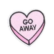 embroidered patch 'go away heart' - the-tangerine-fox