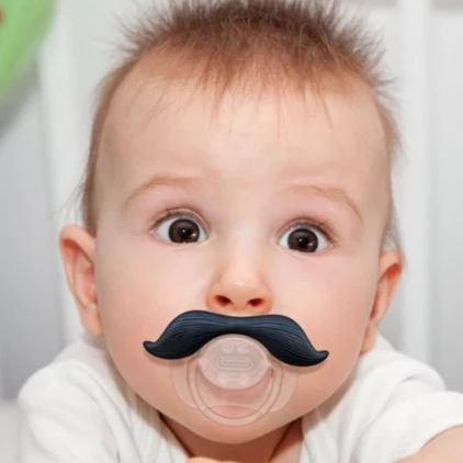 stachifier baby pacifier 'gentlemen black'
