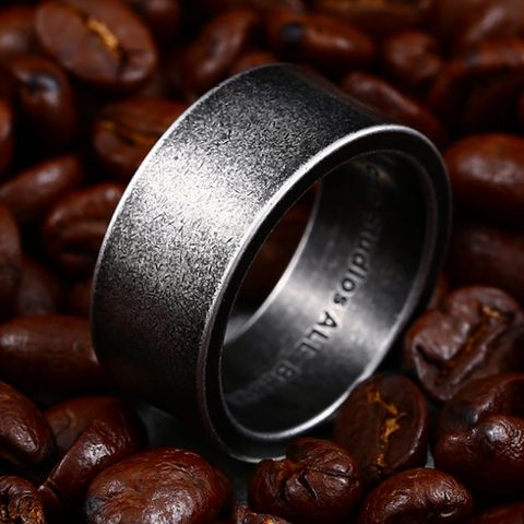 men's ring 'wide band' oxidised silver - the-tangerine-fox