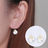 sugar earrings silver 'vintage teardrop bud drop' with gold - the-tangerine-fox