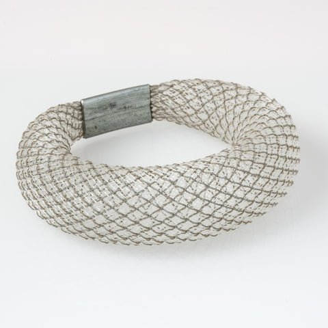 WORKSHOP 85 MESH REFLECTIVE BRACELET WHITE