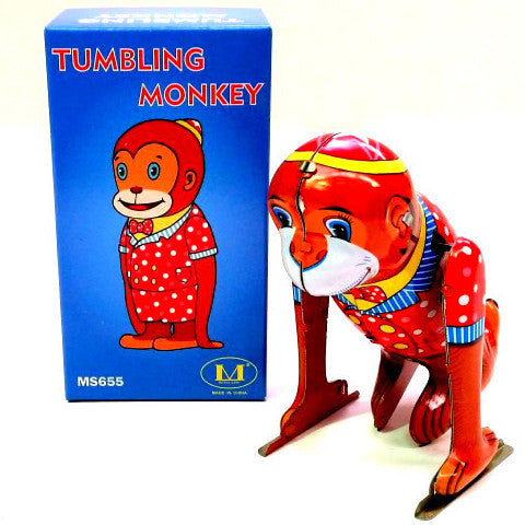 RETRO TIN TOY 'TUMBLING MONKEY'