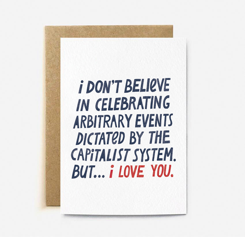 the cardy club greeting card 'arbitrary events'
