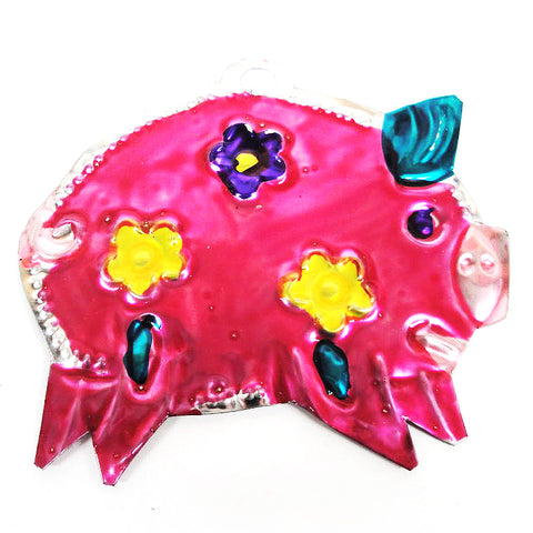 mexican tin christmas decoration 'pig'
