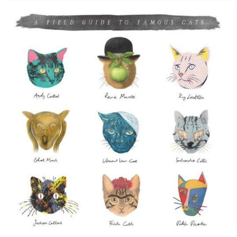 u studio greeting card 'field guide to famous cats'