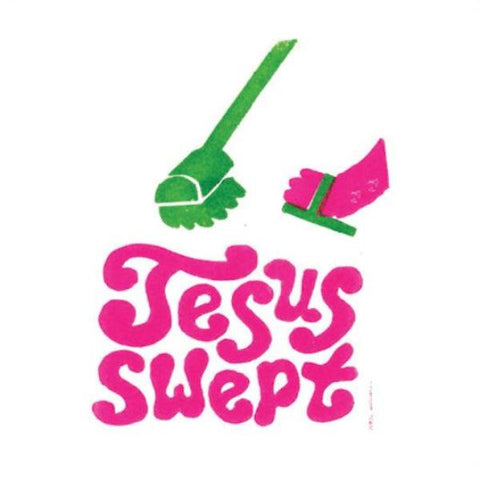 u studio greeting card 'jesus swept'