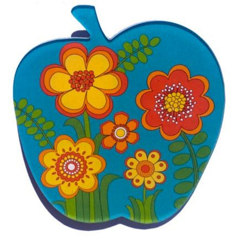 smyle designs brooch 'apple' teal floral