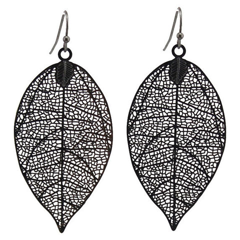 sugar earrings 'leaf' charcoal