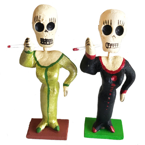 mexican figurine 'day of the dead lady of the night'