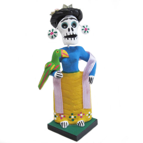 mexican folk art figurine 'day of the dead frida'
