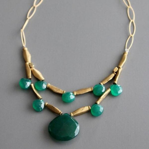 david aubrey necklace 'faceted double strand'