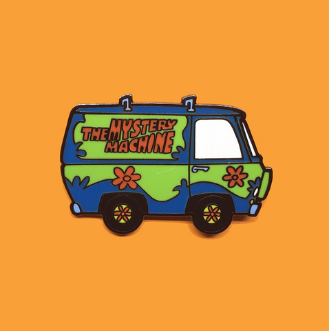 arsenic or cyanide enamel pin 'mystery machine'