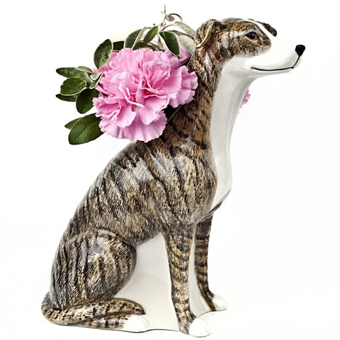 quail ceramics flower vase 'greyhound' small