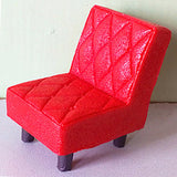 miniature chair 'quilted resin retro' red