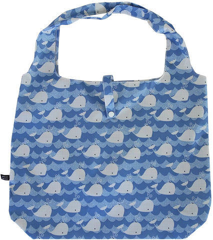 gifted hands shopping bag 'whale' blue