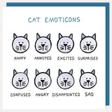 u studio greeting card 'cat emoticons'