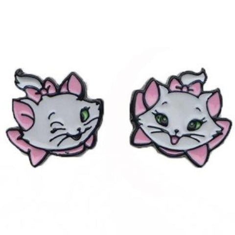 sugar earrings 'aristocats marie' enamel