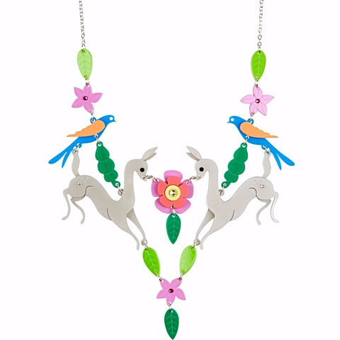 little moose necklace 'woodland deer' - the-tangerine-fox