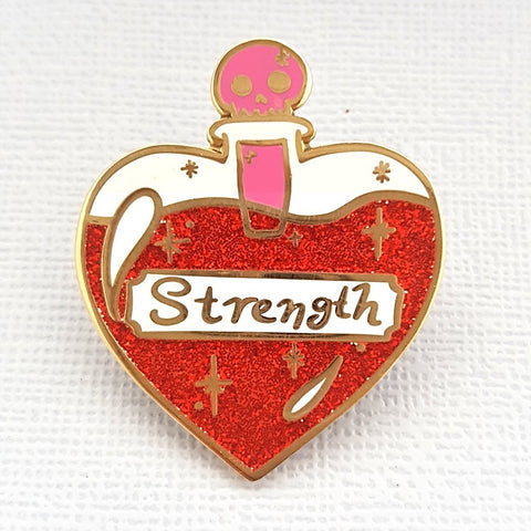 jubly-umph enamel pin 'solution of strength'