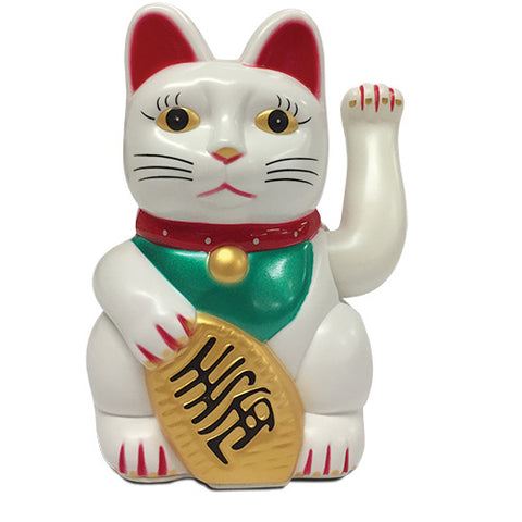 mr & mrs jones lucky cat 'maneki neko' white