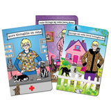 archie mcphee notebook set 3 'crazy cat lady'