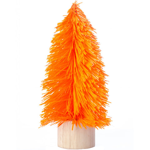 acorn & will mini christmas tree 'kitsch orange' small - the-tangerine-fox