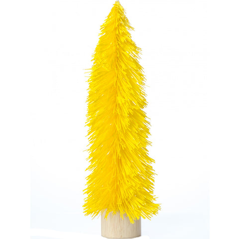 acorn & will mini christmas tree 'kitsch yellow' large