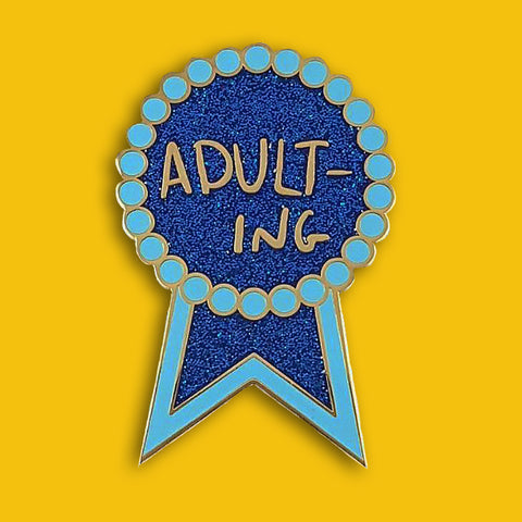 jubly-umph enamel pin 'adulting'