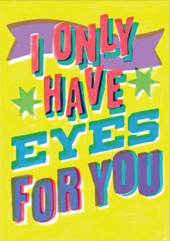 ahd paper co. greeting card eyes for you