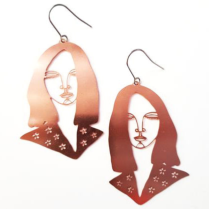 denz & co earrings 'wirebabes alec' rose gold