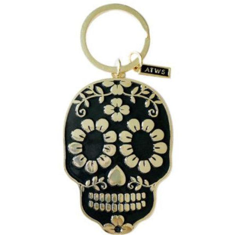 all the ways to say key ring 'black & gold skull'