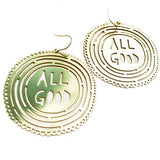 denz & co. earrings 'all good dangles' gold