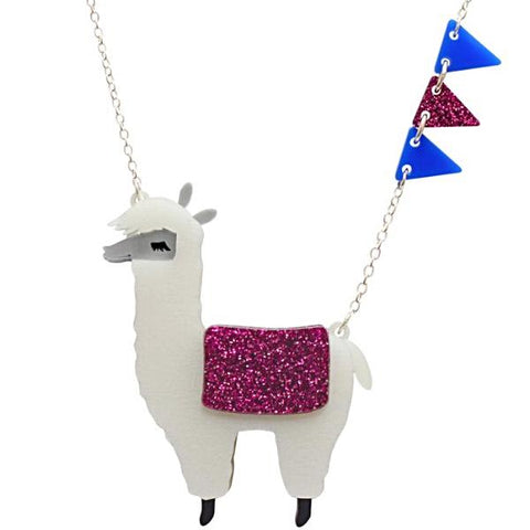 little moose necklace 'alpaca' white large