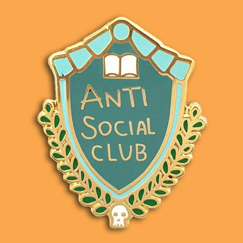 jubly-umph enamel pin antisocial club