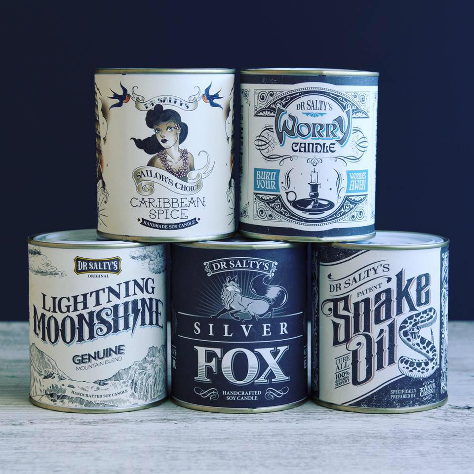 anvil creek co. candle 'dr salty's snake oil' - the-tangerine-fox