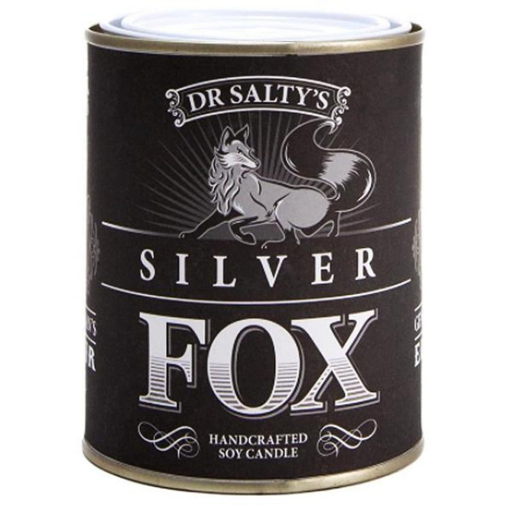 anvil creek co. candle 'dr salty's silver fox'