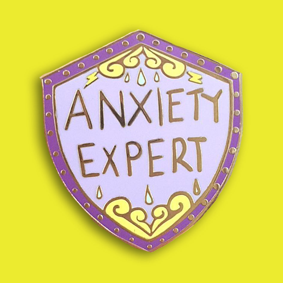 jubly-umph enamel pin anxiety expert