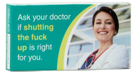 blue q chewing gum 'ask your doctor'