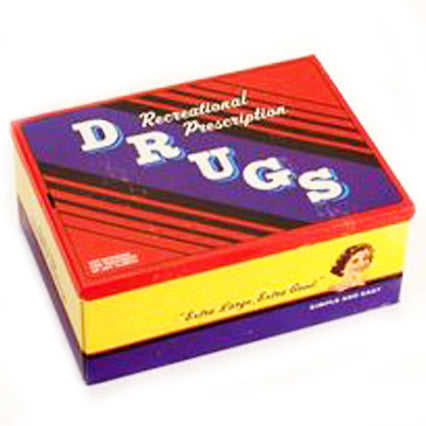 blue q cigar box 'recreational prescription drugs'
