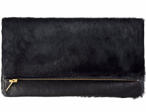STATUS ANXIETY 'GWYNETH' BAG BLACK/BLACK FUR