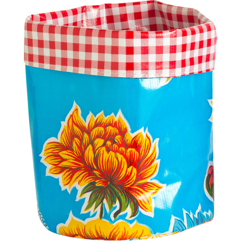 BenElke collapsible planter 'blue & red flowers' large