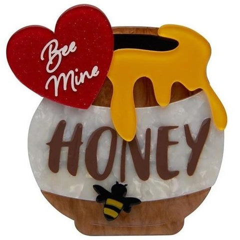 erstwilder brooch 'bee mine, honey'