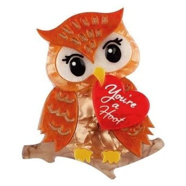 erstwilder brooch 'you're a hoot'